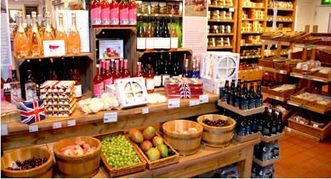 To Farm Shop του κτήματος Chatsworth του Ηνωμένου Βασιλείου, με βιολογικά προϊόντα παραγωγής του κτήματος.