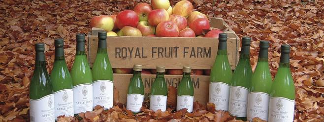 Παραγωγή μήλων και χυμού μήλου στο ιδιωτικό κτήμα της Βασίλισσας Ελισάβετ στο Sandringham.
