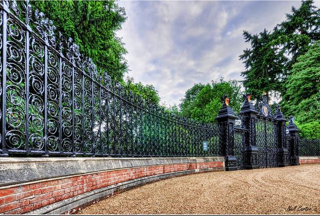 Περίφραξη στο Sandringham Estate στην Μεγάλη Βρετανία.