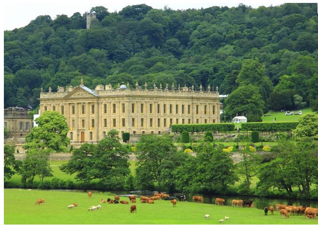 Αρχιτεκτονική-Πολιτισμός-Άνθωρπος-Γεωργία-Κτηνοτροφία. Στενή και αρμονική συνύπαρξη στο κτήμα Chatsworth του Ηνωμένου Βασιλείου.