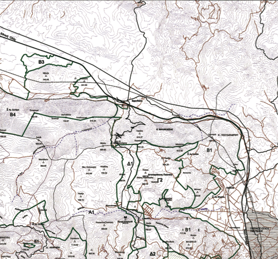 Χάρτης Ζωνών Προστασίας Πάρνηθας